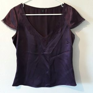 Tahari 100% silk sleeveless blouse